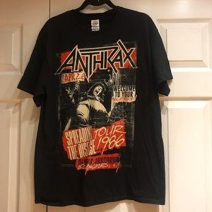 "Anthrax Concert Tee,Preshrunk,Size-L,Pit-Pit-20.5"""